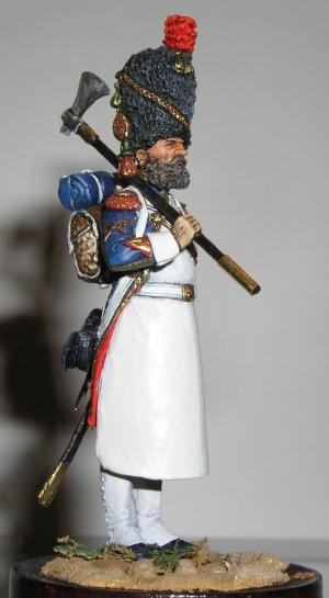 Сапер полка пеших егерей Французской Императорской гвардии, 1810 г.