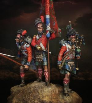 """Standard-bearer of the 42nd Royal Highlander regiment of foot """"Black Watch"""", 1815"""