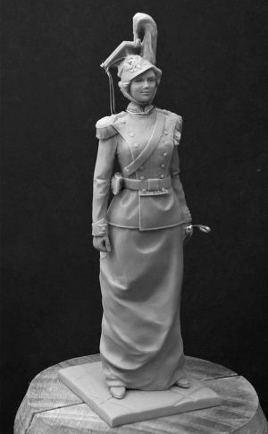 Grand Duchess Tatiana Romanova in the uniformed dress Colonel-in-Chief 8th Voznesenskiy Lancers Regiment. Russia 1912-14