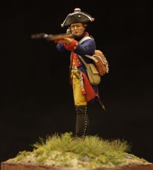 Прусский мушкетер 34-го пехотного полка, 1756-63 гг.