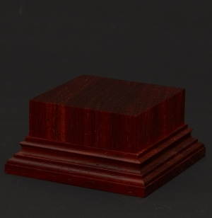 Wooden base - Paduk 50-50. h-30
