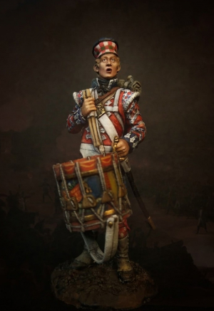 """Drummer-boy of the 42nd Royal Highlander regiment of foot """"Black Watch"""", 1815"""