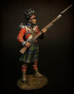 """Рядовой (№1) (Королевских Шотландских горцев) пехотного полка """"Черная Стража"""", 1815 г."""