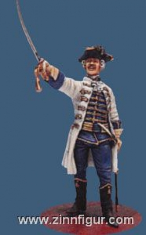 Officer of the Hungarian Infantry Regiment, Austria-Hungary, 1756-63