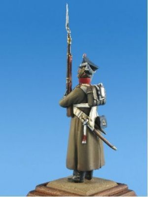 Russian musketeer of infantry regiments, 1812-15