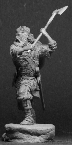 Russian warrior with an axe, 13-14 centurie