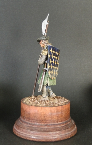 The infantry sergeant from Champagne, France the 1360th years