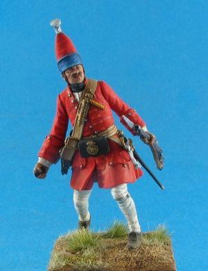 Russian grenadier of infantry regiments, 1709-15
