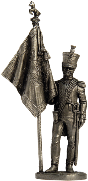 """Officer-bearer of the 5th Linear Regiment """"Real Calabria"""". Naples, 1811-12"""
