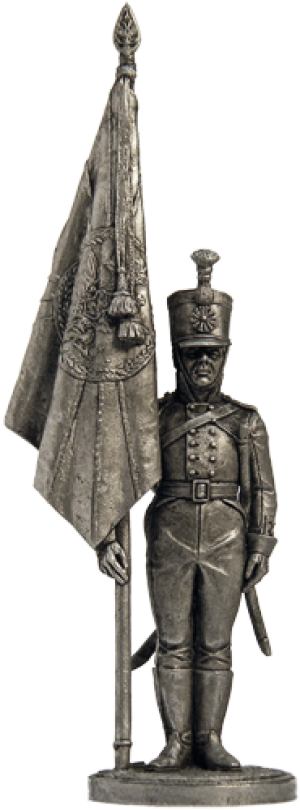 Standard bearer musketeer regiment. Russia, 1803-06