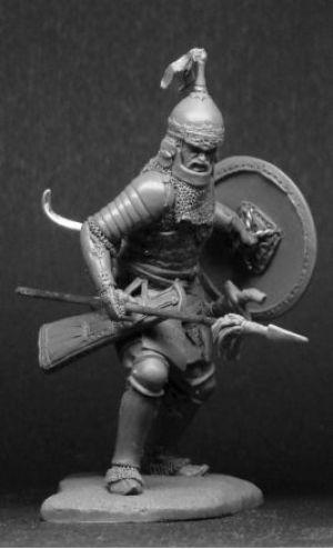 Татаро-монгольский воин с копьем, 14 век