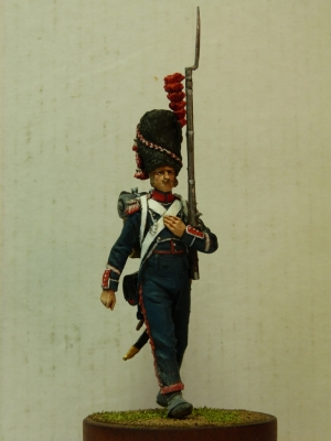 Sergeant of the carabineer company of the 8th Light Infantry Regiment, France, 1813.