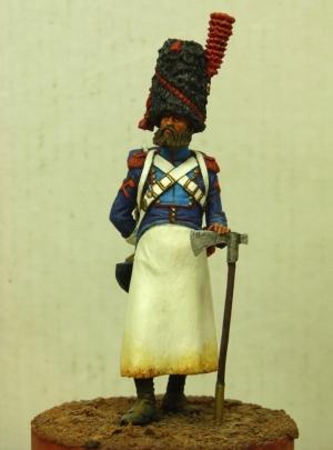 Сапёр 24-го линейного пехотного полка, Франция 1808 г.