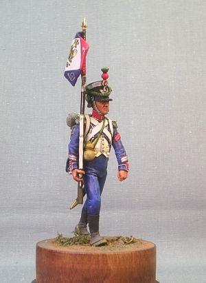 Sergeant of the 7th light infantry regiment, France 1812