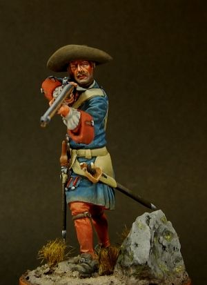 Russian fusilier of the Life-Guard regiments, 1704-09