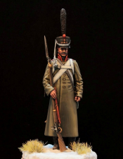 Russian grenadier in a greatcoat, 1812-14