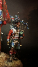 """Piper of the 42nd Royal Highlander regiment of foot """"Black Watch"""", 1815"""