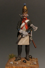 Sapper of the Marine battalions, Russian Imperial Navy, 1797-1801