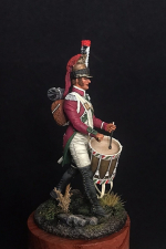 Барабанщик драгунских полков, Франция 1804-07 гг.