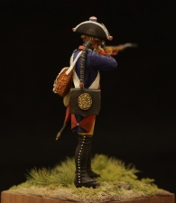 Prussian musketeer of the 34th infantry regiment, 1756-63