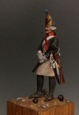 Wounded grenadier of the French Imperial Guard, 1808-15