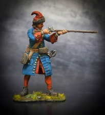 Russian grenadier of infantry regiments, 1708-10