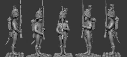 Carabinier of the battalion Neuchatel, 1810-12