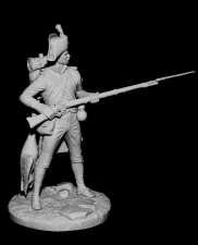 French fusilier of line infantry semi-brigades, 1793-1800