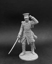 Обер-офицер пехотных полков в сюртуке, Россия 1812-14 гг.