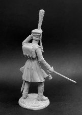 Russian infantry officer in a coat, 1812-14