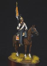 Штандарт-юнкер армейских кирасирских полков, Россия 1812-14 гг.