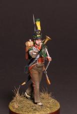 Корнет вольтижеров пехотных полков Португальского легиона, 1809-14 гг.