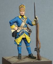 Swedish grenadier of Mellin's regiment, 1700-05