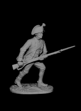 Private of musketeer regiments (Italian campaign of Suvorov), Russia 1799