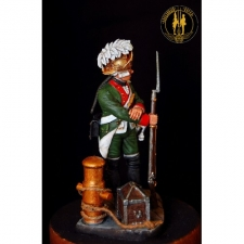 Musketeer (or Grenadier) of the naval battalions of the Baltic Fleet, Russia, 1766-87