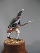 Private of grenadier regiments (Italian campaign of Suvorov), Russia 1799