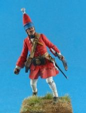 Russian grenadier of infantry regiments, 1709-15