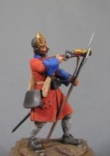 Russian bombardier of an artillery regiments, 1720