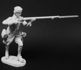 Swedish musketeer of infantry regiments on shooting, 1700-21