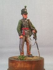 Officer of the 95th regiment of light infantry, Great Britain 1812