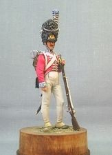Grenadier of an infantry regiment of the Kingdom of Denmark, 1807