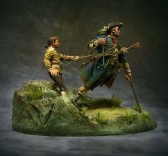 Treasure Island: John Silver & Jim Hawkins, 18 century. (2 figures)